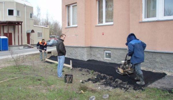 Отмостка асфальтовая в Нижнем Новгороде